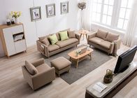 Light Skin Contemporary Bedroom Furniture Fabric Corner Sofa Set Three Seater