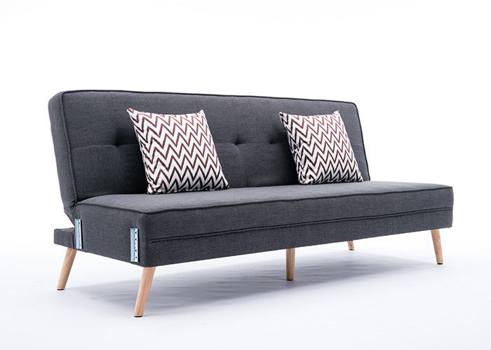 Steady Contemporary Bedroom Furniture Two Seater Fabric Sofa In Black Grey Color